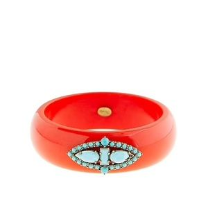 Lulu Frost for J.Crew Red Turquoise Resin Bangle